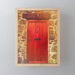 The red door Framed Mini Art Print