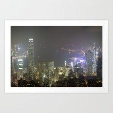 Hong Kong Night View 2014 Art Print