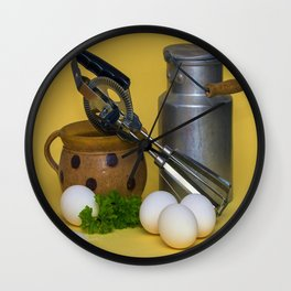 Milk Can Vignette Wall Clock