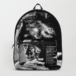Charles Bukowski - black - quote Backpack