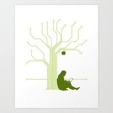 Apple CircuiTree Art Print