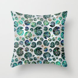 Sea shells pattern Abalone Throw Pillow