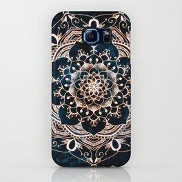 Glowing Spirit Mandala Blue White iPhone Case