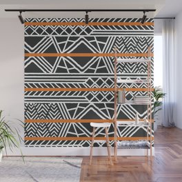 Tribal ethnic geometric pattern 022 Wall Mural