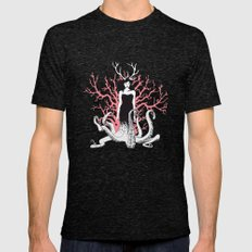 Nature is ancient Mens Fitted Tee MEDIUM Tri-Black