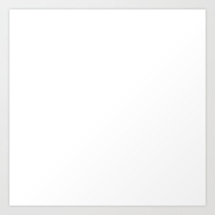 White Minimalist Solid Color Block Kunstdrucke