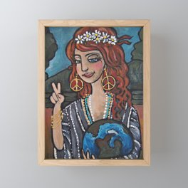 Earth Girl Framed Mini Art Print