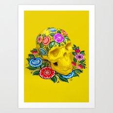 Gorodec Skull Art Print