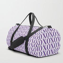 Purple XOXO Duffle Bag