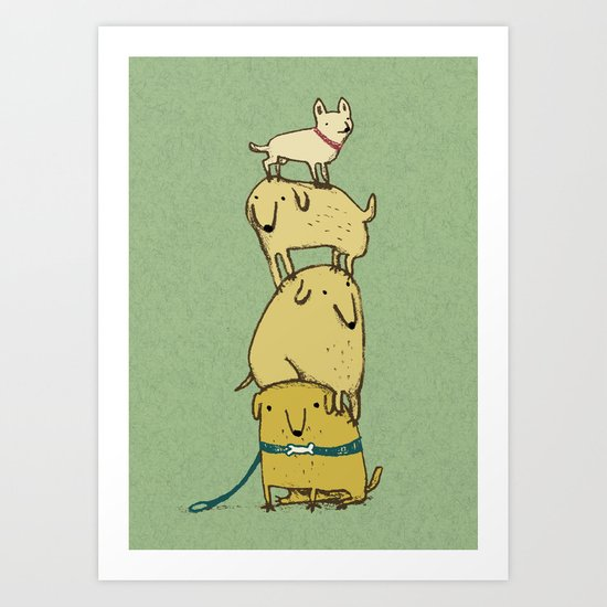 Puppy Totem Art Print