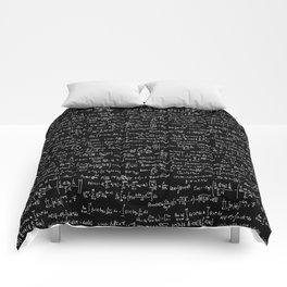Math Equations // Black Comforters