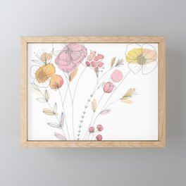 Watercolor Flower Illustration Framed Mini Art Print