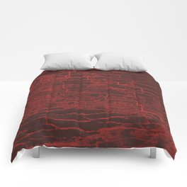 Red Grey Stone Comforters