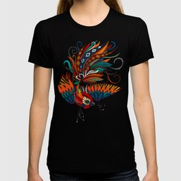 rooster ink pink T-shirt