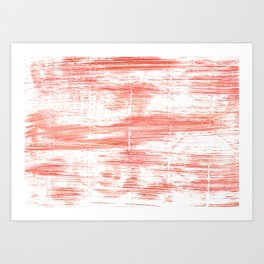 Light salmon pink abstract watercolor Art Print