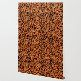 Leopard Russet Orange Wallpaper