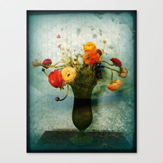 Bringing the Bloom Inside  Canvas Print