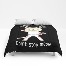 Don't Stop Meow! Cute Freddie Cat Comforters
