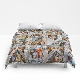 Sistine Chapel Ceiling Michelangelo Comforters