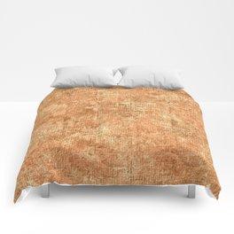 Peach Cobbler Oil Painting Color Accent Comforters