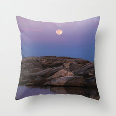 Full Moonrise Throw Pillow