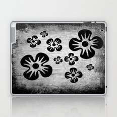 Black Flowers Laptop & iPad Skin