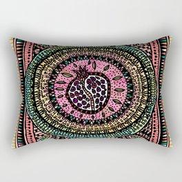 Pomegranate Doodle Rectangular Pillow