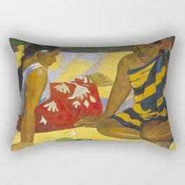 Parau Api / What's news? by Paul Gauguin Rectangular Pillow