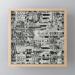 Exploiting Digital Behavior (P/D3 Glitch Collage Studies) Framed Mini Art Print