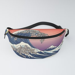 The Great Wave of Sloth Fanny Pack
