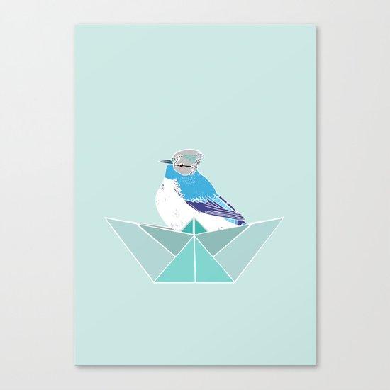 Origami Bird Canvas Print