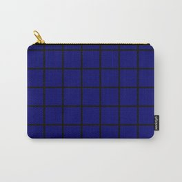 dark blue cube Carry-All Pouch