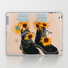 Flower Boots Laptop & iPad Skin