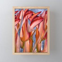 Dance of the crazy Tulips Framed Mini Art Print