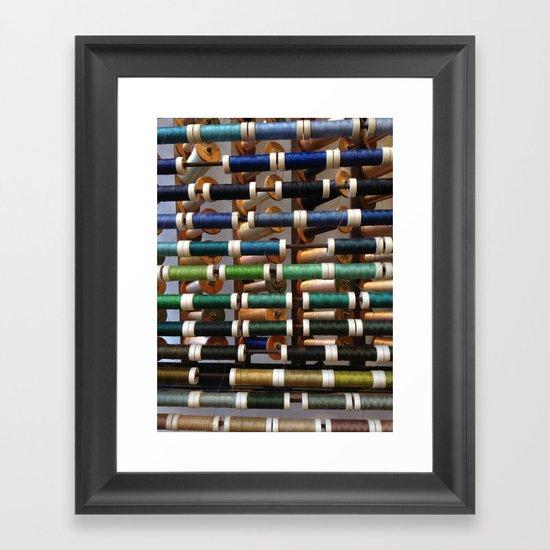 Thread samples in Paris Framed Art Print