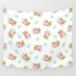 Soft Floral Print Wall Tapestry