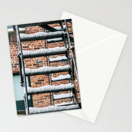 Fire Escape in Snow. East Village. New York City. Stationery Cards
