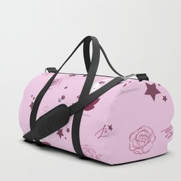 Magic moments with cute bunnies light pink Duffle Bag