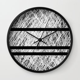Interrupted Thoughts - Abstract Black And White Wall Clock