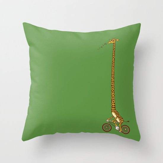 Long Bike Ride Throw Pillow