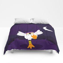 Happy white owl Comforters