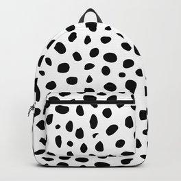 Black And White Cheetah Print Backpack