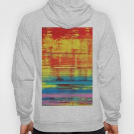 Sunny Sunset, Colorful Abstract Art Hoody