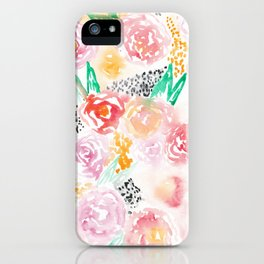 Abstract Watercolor III iPhone Case
