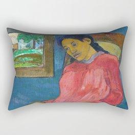 Faaturuma (Melancholic) by Paul Gauguin Rectangular Pillow