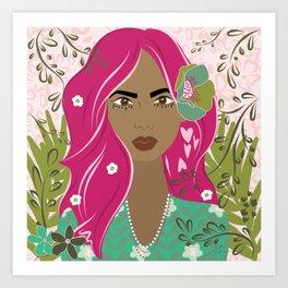 Floral & Feminine - Ferocious Art Print