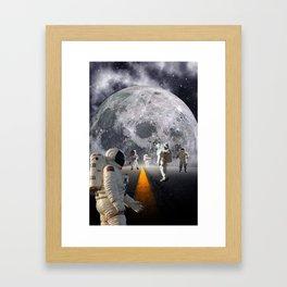 The Lost Astronauts Framed Art Print