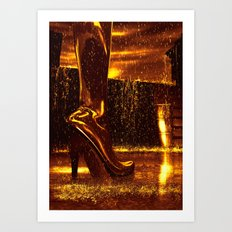 Shiny Boots of Leather Art Print
