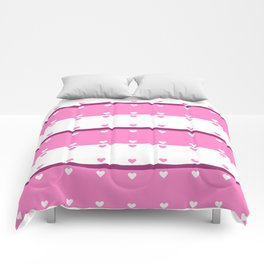 Hearts In A Row Comforters