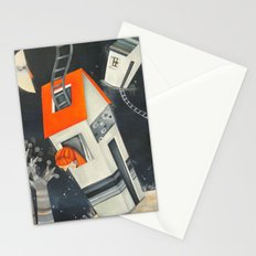 Houses and sky Stationery Cards